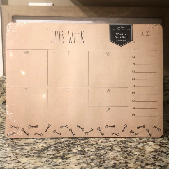 Rae Dunn Weekly Desk Pad